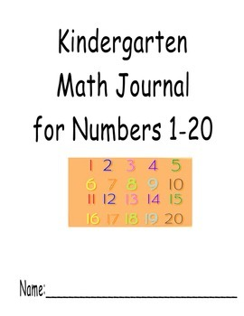 Numbers 1-20 Journal