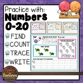 Kindergarten Math Number Printing Practice (0-20)