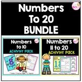 Numbers 0-20 Activities (Bundle)