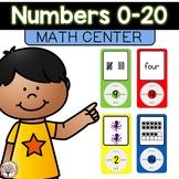 Numbers 0-20 Math Center: MP3 Match!