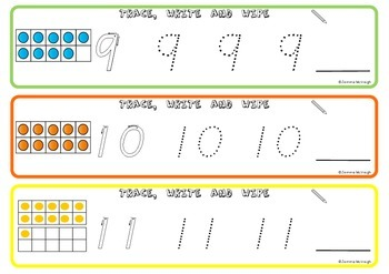 Numbers 0 -20 Math Centre Activities ~ Miss Mac Attack ~