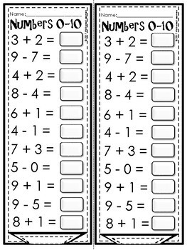 Numbers 0-20 Mental Math