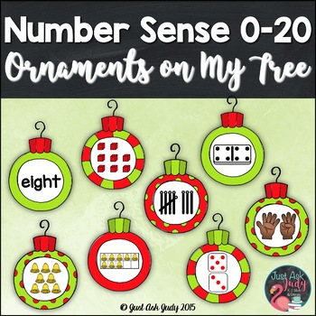 Numbers Sense Activity 0-20 Christmas Ornaments