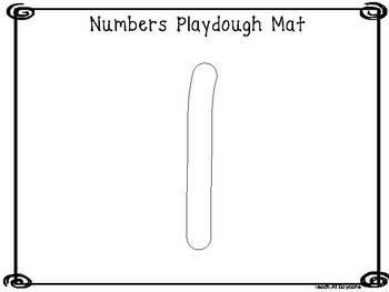 Numbers 0-20  Playdough Mat Worksheets. Preschool-KDG Numbers and Math.