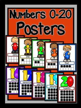 Numbers 0-20 Posters-The Modern Classroom