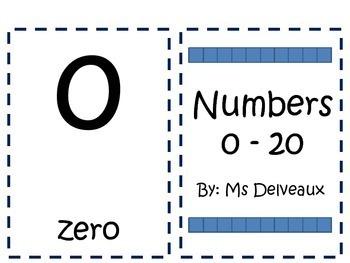 Numbers 0 - 20 Printable Book