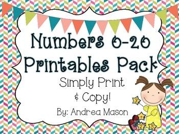 Numbers Printables
