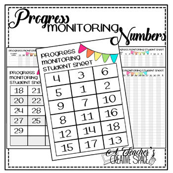 Numbers 0-20 Progress Monitoring Tracker