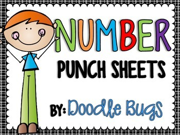 Numbers (0-20) Punch Sheets / Printables