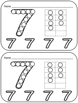 Numbers 0-20 Q-Tip Painting Pages- Preschool or Kindergarten Math