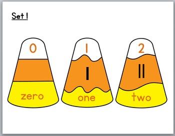 Candy Corn Math - Tally Marks Self-Correcting Puzzles