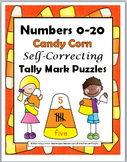 Candy Corn Math - Tally Marks Self-Correcting Puzzles
