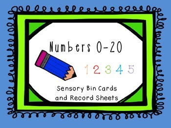 Numbers 0-20 Sensory Bin