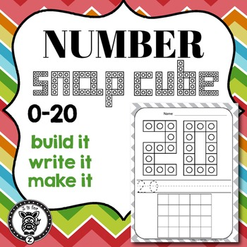 Numbers 0-20 Snap Block Cards