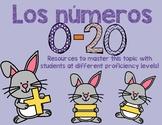 Numbers 0-20: Spanish activities