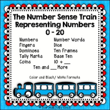 Number Sense Activity 0-20 Train