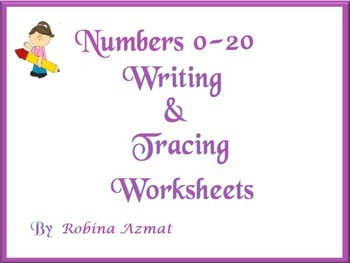 Numbers 0-20 Tracing, Writing and coloring worksheets: