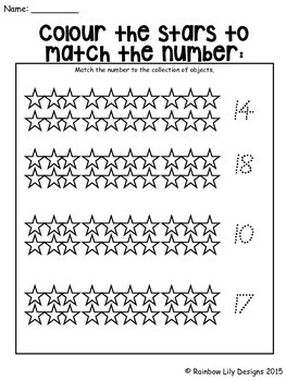 Numbers 0-20 Worksheets Australian