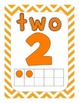 Numbers - 0-20, numeral, number word, tens frames, bright