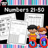 Numbers 11-50 writing, number correspondence and identify
