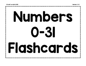 Numbers 0-30 Flashcards