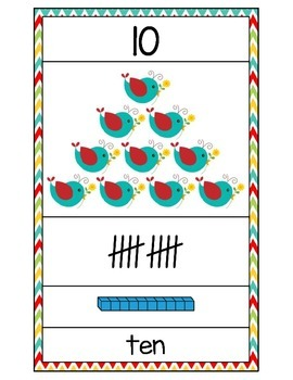 Numbers 0-30 Mini Posters (Boho Bird Inspired)