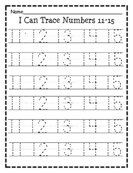 Numbers 0-30 Tracing Practice
