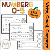 Write, Count, Compare Numbers 0-5   Fall Theme