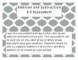 Numbers 0-5 Addition and Subtraction Assessment