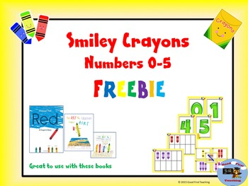 Numbers 0-5 Cards, 10 Frames, and Tally Marks- Crayon Theme Free