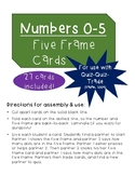 Numbers 0-5 Five Frame Cards (For use with Quiz-Quiz-Trade!)
