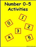 Numbers 0-5 Math Activities