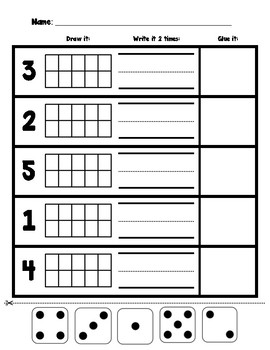 Numbers 0-5 Math Assessment