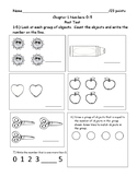 Numbers 0-5 Post Test  (My Math Chapter 1)