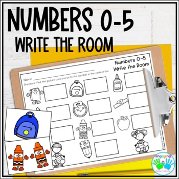 Numbers 0-5 Write the Room