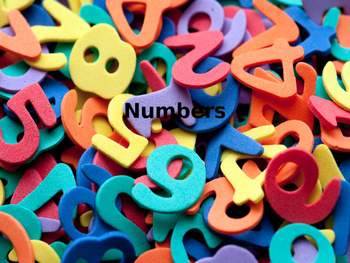 Numbers 0-5 on PowerPoint slides