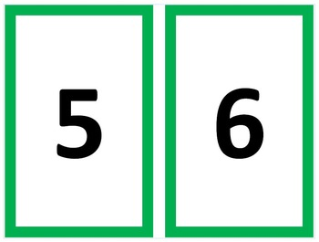 Numbers 0-50 - with border and counters - K.CC.A.1, K.CC.A.3, K.CC.B.4,