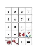 Numbers 0-9 + Operation Symbols
