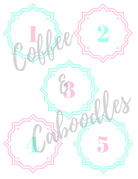 Numbers 0-9 Pink and Mint