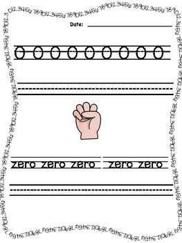Numbers 0-9 Workbook