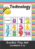 Numbers 0 to 10 BeeBot Play Mat.  Bee Bot Coding - Great Math Centre Fun!