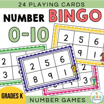 Numbers Bingo Card Worksheets Teaching Resources Tpt