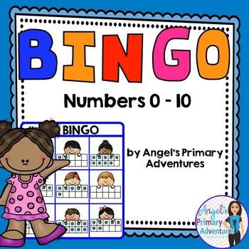 Numbers 0 to 10 Bingo Game using Ten Frames