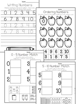 Numbers 0 to 10 FREEBIE - Counting, Ordering, Missing, One More, One Less
