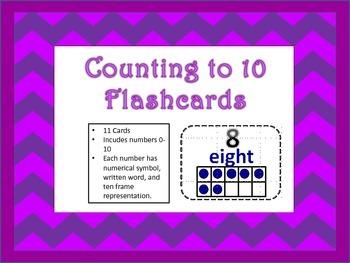 Numbers 0 to 10 Flashcards