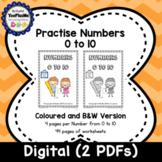 Numbers 0 to 10 Worksheet