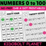 Kindergarten Numbers 0 to 100 Dab a Dot Printable Worksheets