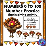 Numbers 0 to 100. Number Practice - Thanksgiving Theme