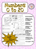 Numbers 0 to 20 Number Writing Practice & Number Concept Practice