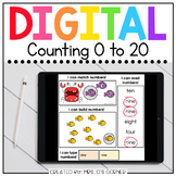 Numbers 0 to 20 Digital Basics for Special Ed | Distance Learning